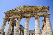 Doric Temple Of Segesta In Sicily, Italy