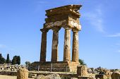Doric Temple Of Castor And Pollux In Agrigento, Italy