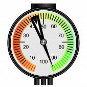 Manómetro de Gas Vector sobre un fondo blanco