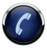 Blue honeycomb icon