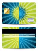 Halftone With Burst Credit Card Design