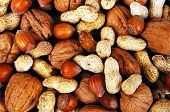 stock photo of groundnuts  - Mixed nuts in their shells  - JPG