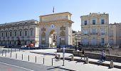 MONTPELLIER, FRANCE - AUGUST 14: Arc de Triomphe de Montpellier on on august 14, 2013 in Montpellier