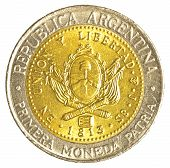 One Argentinian Peso Coin