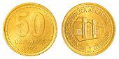 50 Argentinian Peso Centavos Coin