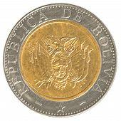 Five Bolivian Bolivianos Coin