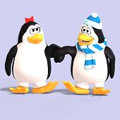 Penguin Couple In Love