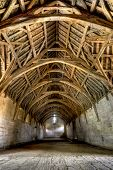 stock photo of tithe  - 13th Century tithe Barn located near Bath England - JPG