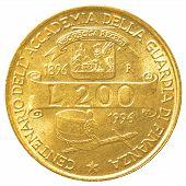200 italian lira coin