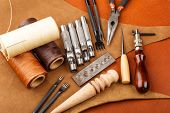 Homemade leather craft tool and accessories
