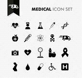 Fresh Medical Icon Set.
