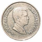 Five Jordanian Piasters Coin