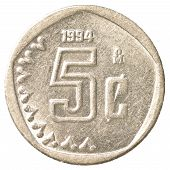 5 Mexican Peso Cents Coin