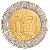 Five Mexiacn Pesos Coin