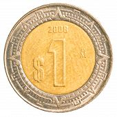 One Mexican Peso Coin