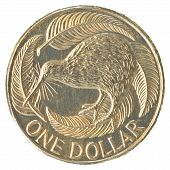 One New Zealand Dollar Coin