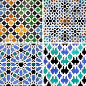 Ancient moorish ceramic tiles