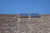 Combination Of Old Roof And Solar Energy