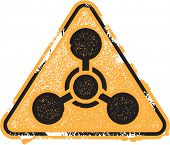 Chemical Weapons Grunge Warning Icon