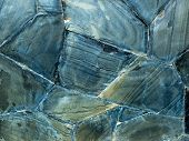 Texture Of Blue Grunge Rock Wall