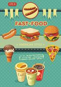 picture of nack  - Creative Template with fast food concept - JPG