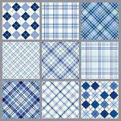 Nine Blue Plaids