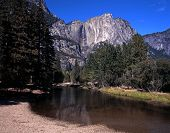Upper Yosemite Fall and river, California.