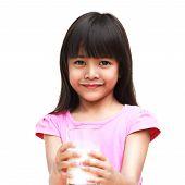 Little Girl With A Milk Mustache