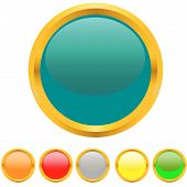 Multi-coloured Buttons With A Gold Border