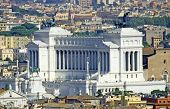 Huge Vittoriano Monument Dedicated To Vittorio Emanual Ii King