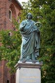 Monument of Nicolaus Copernicus in Torun, Poland