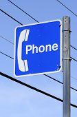 Blue Phone Sign