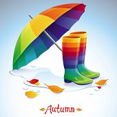 Vector Bright Autumn Background