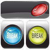 Break. Internet buttons. Raster illustration. Vector version is in my portfolio.