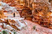 picture of empty tomb  - Tombs carved in the rock in Petra - JPG