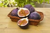 Fresh Figs On A Basket