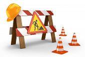 Road stop barrier