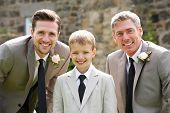 Groom With Best Man And Page Boy At Wedding
