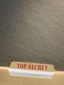 Top secret file folder on background