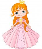 Illustration of cute little princess