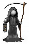 stock photo of grim-reaper  - 3d white people - JPG