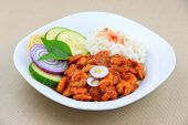 Spicy loose shrimp fry Indian dish
