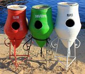 Colorful Recycle Trashcans