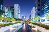 Cheonggyecheon in Seoul city