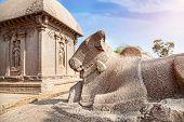 Bull Statue In Mamallapuram