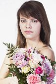 Young Woman With Bouquet