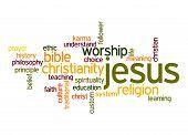 foto of karma  - Jesus word cloud image with hi - JPG