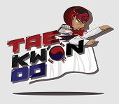 pic of taekwondo  - Create cartoon taekwondo martial art - JPG