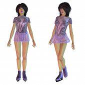 Figure Skater In Violet Dress