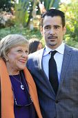 PALM SPRINGS, CA - JAN 5: Kay Ballard, Colin Farrell at the 10 Directors to Watch brunch at The Park